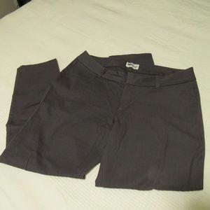 Gray chino style pants